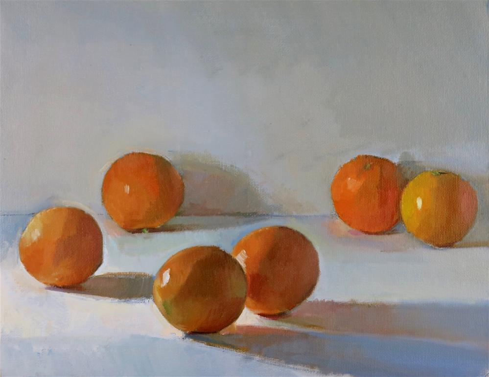 """""""Six Oranges"""" original fine art by Taryn Day"""