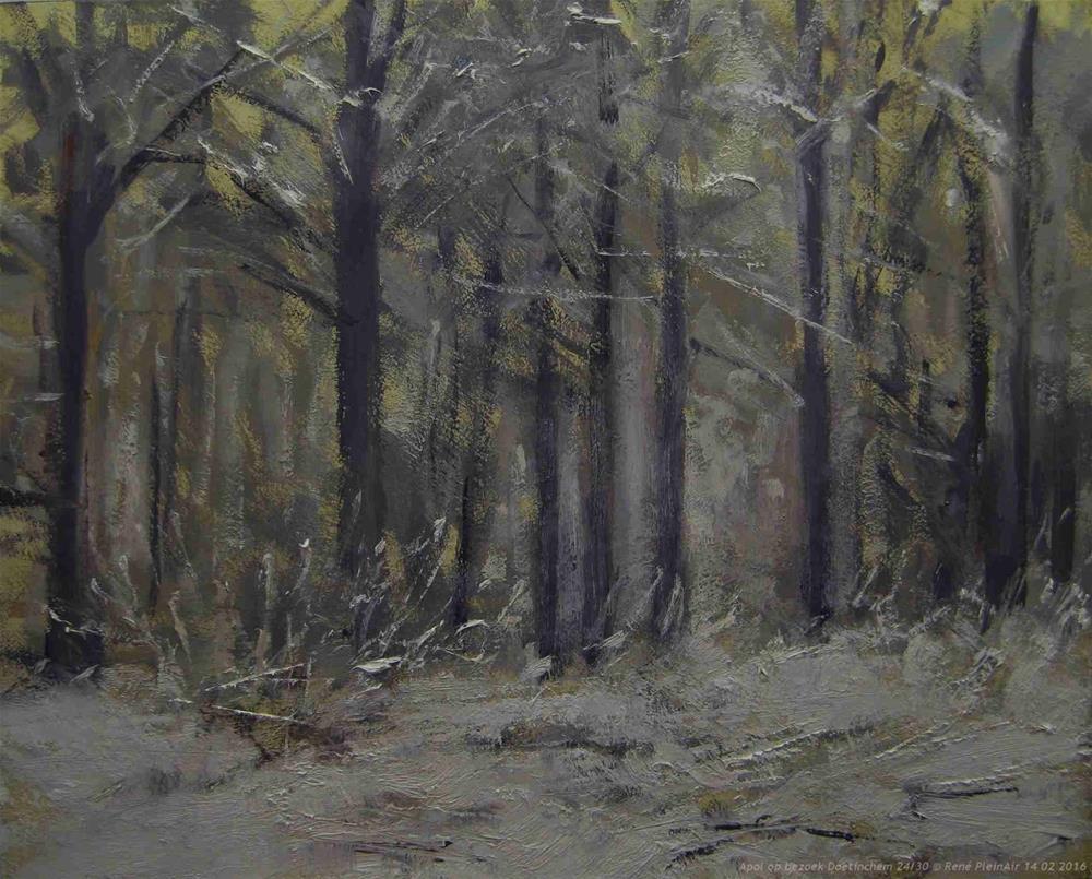"""Apol op bezoek. Doetinchem, The Netherlands."" original fine art by René PleinAir"