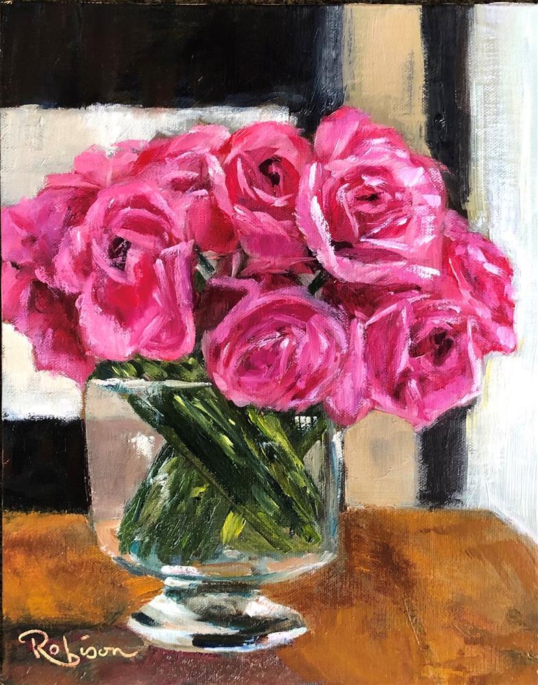 """Rose Study:  7 of 10"" original fine art by Renee Robison"