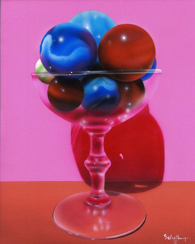 """""""Marbles # 25"""" original fine art by Fred Schollmeyer"""