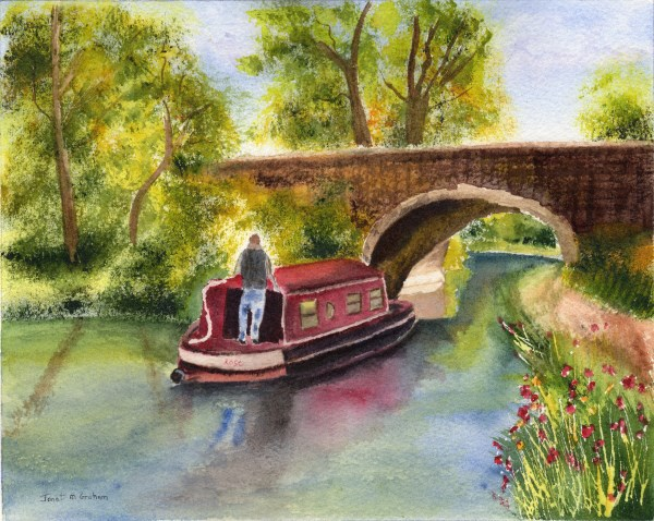 """Cruising the Canals"" original fine art by Janet Graham"
