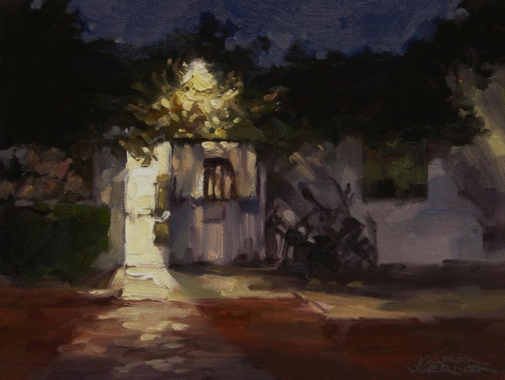 """""""Evening At Graber Olive House"""" original fine art by Karen Werner"""