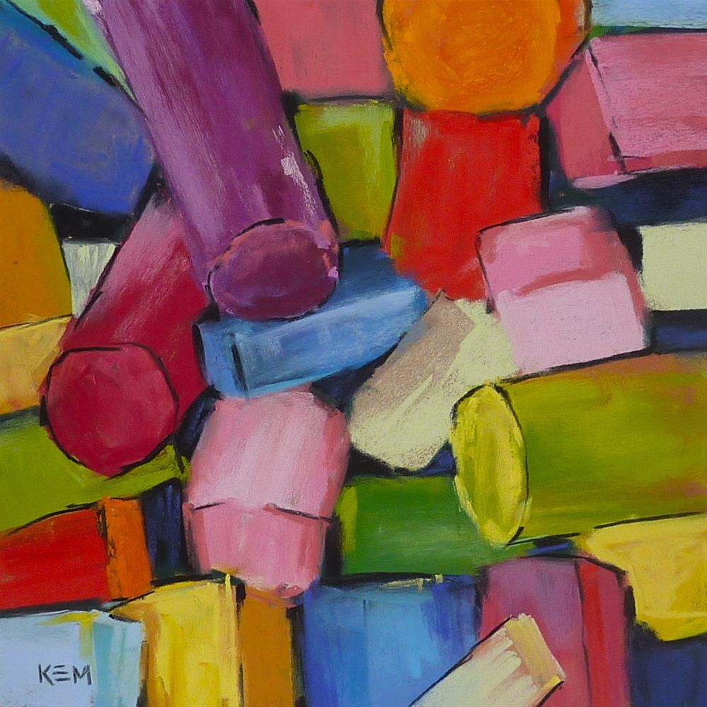 """Read This If You Are Got Pastels this Holiday"" original fine art by Karen Margulis"