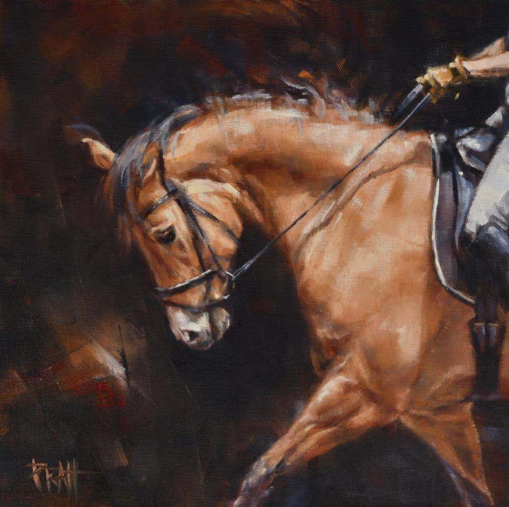 """Dressage with the Buckskin Mare"" original fine art by Jennifer Pratt"