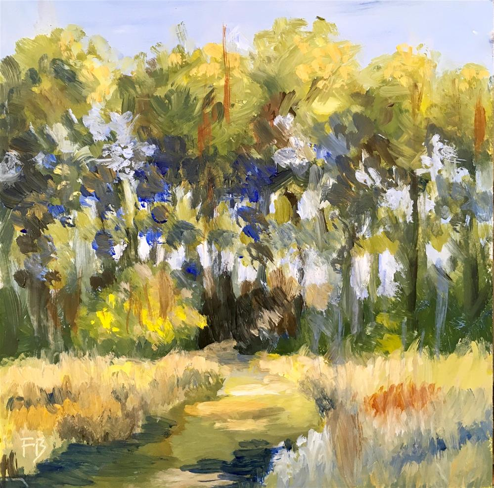 """137 Lush Landscape"" original fine art by Fred Bell"
