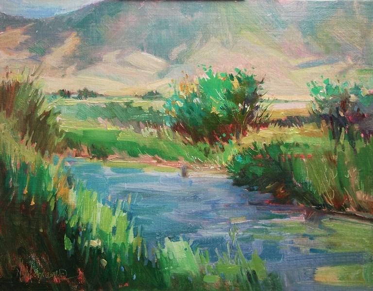 """Ruby Springs Montana, Plein Air Paintings"" original fine art by Mary Maxam"