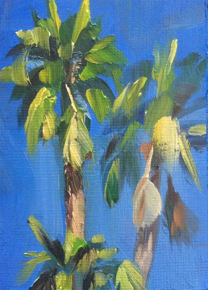 """Palms PS"" original fine art by Gary Bruton"
