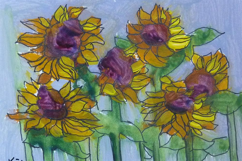 """Sunflower Delight"" original fine art by Karen Margulis"