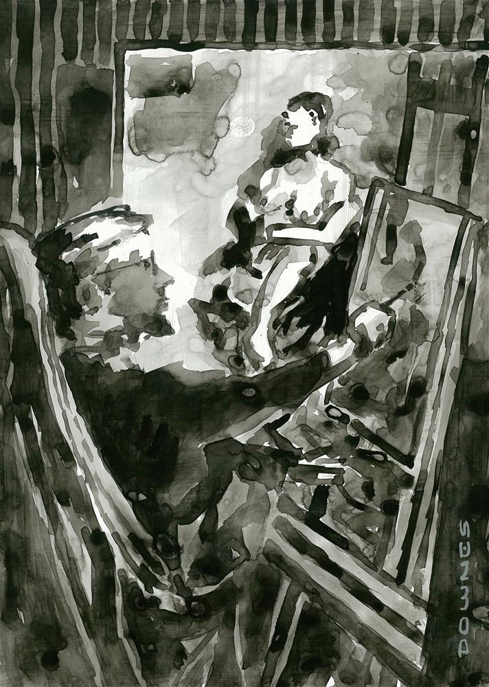 """308 ARTIST & MODEL 3"" original fine art by Trevor Downes"