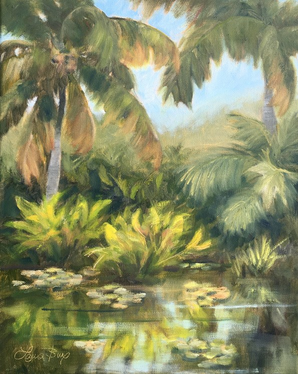"""Naples Botanical Garden 506"" original fine art by Laura  Buxo"