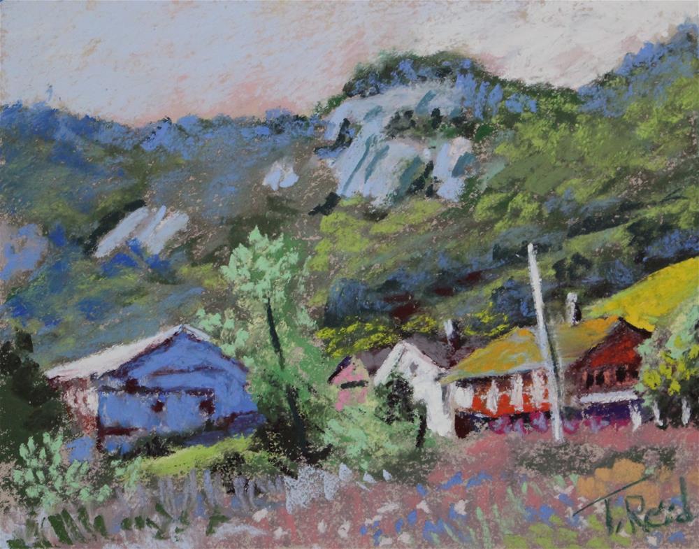 """""""Along the Ridge"""" original fine art by Toby Reid"""