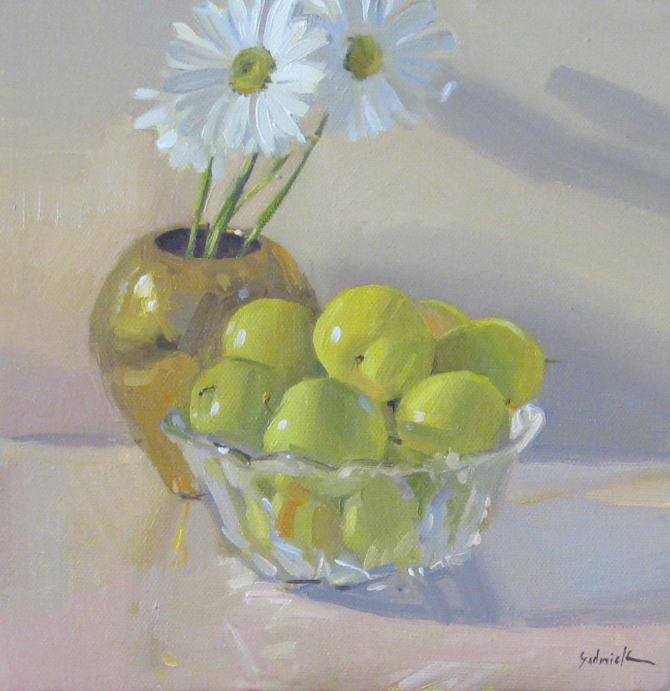"""Green Plums"" original fine art by Sarah Sedwick"