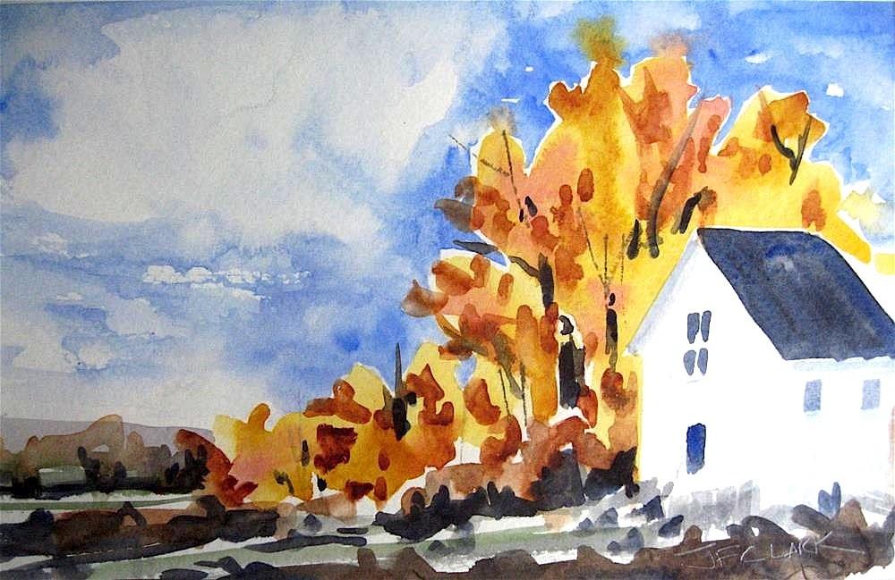 """Autumn Blaze"" original fine art by Judith Freeman Clark"