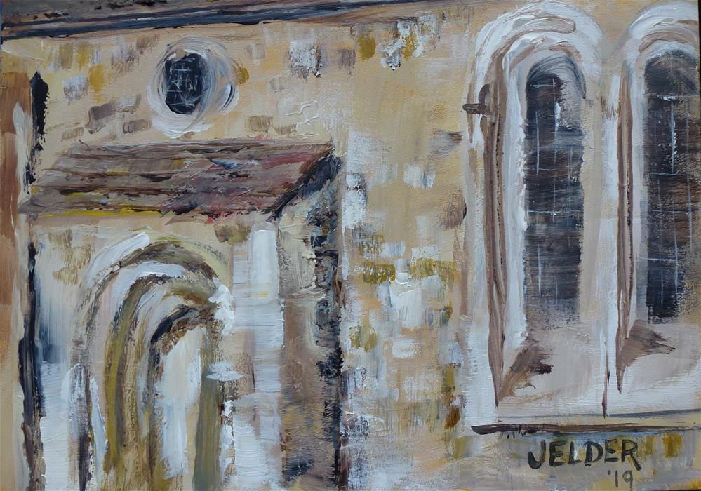 """St. Pancras Old Church"" original fine art by Judith Elder"