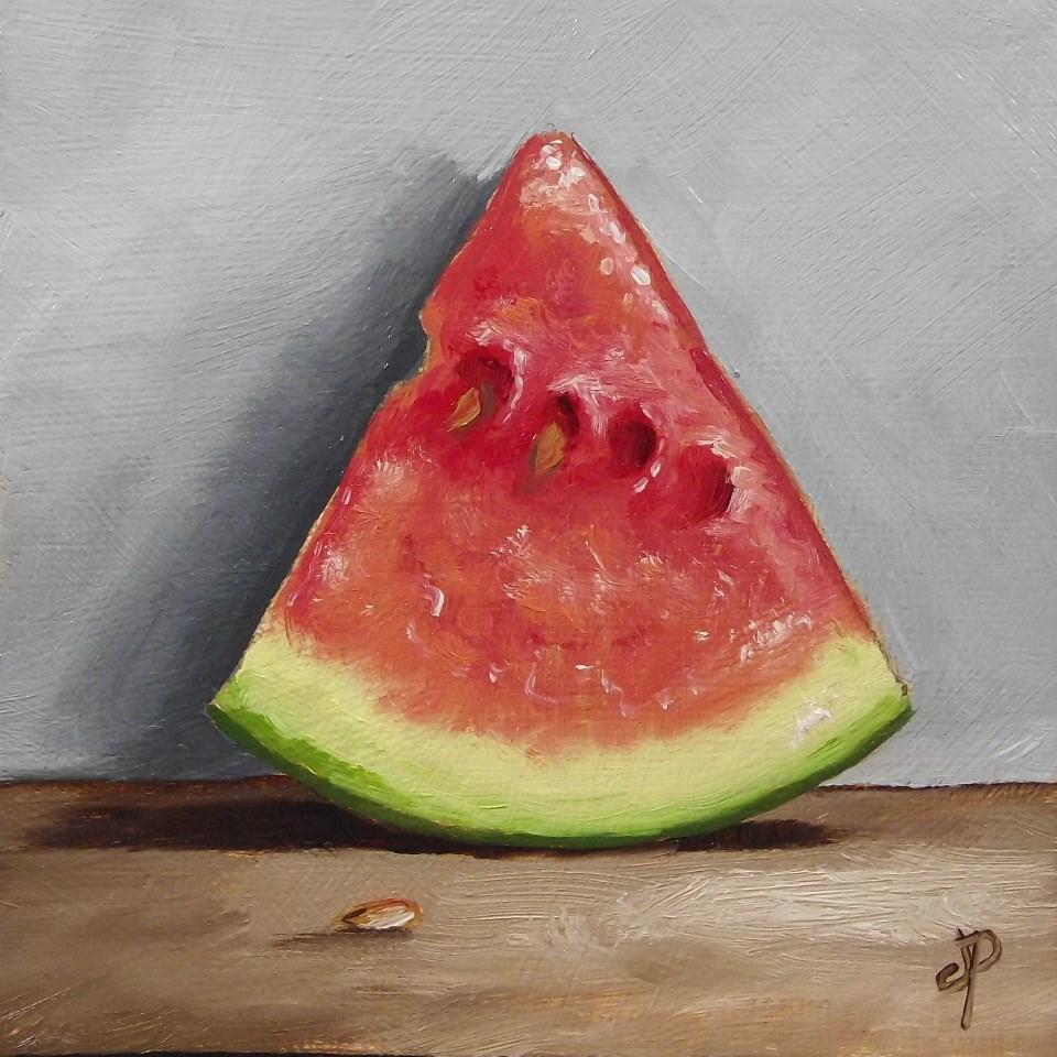 """Little Watermelon"" original fine art by Jane Palmer"