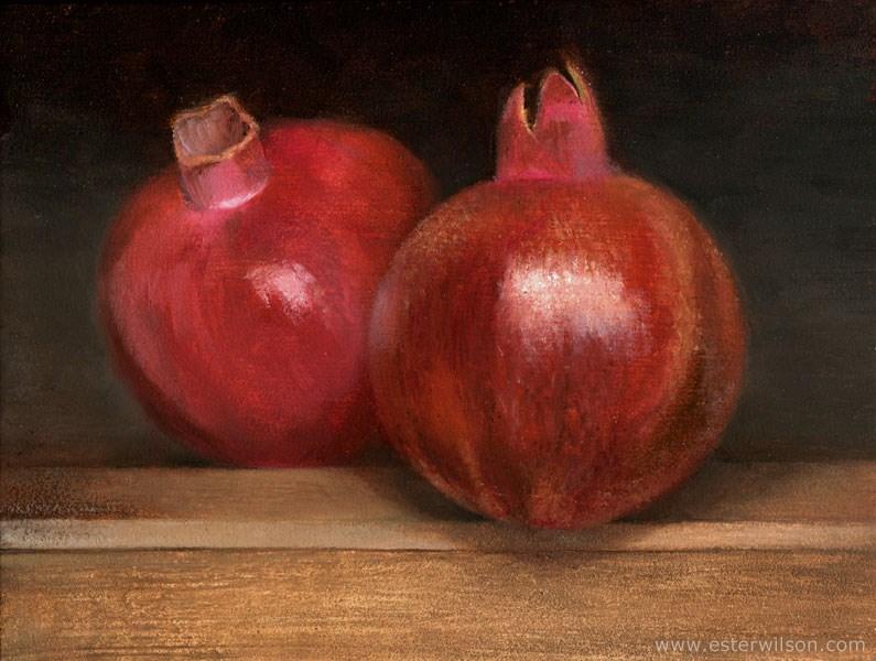 """Pomegranates"" original fine art by Ester Wilson"
