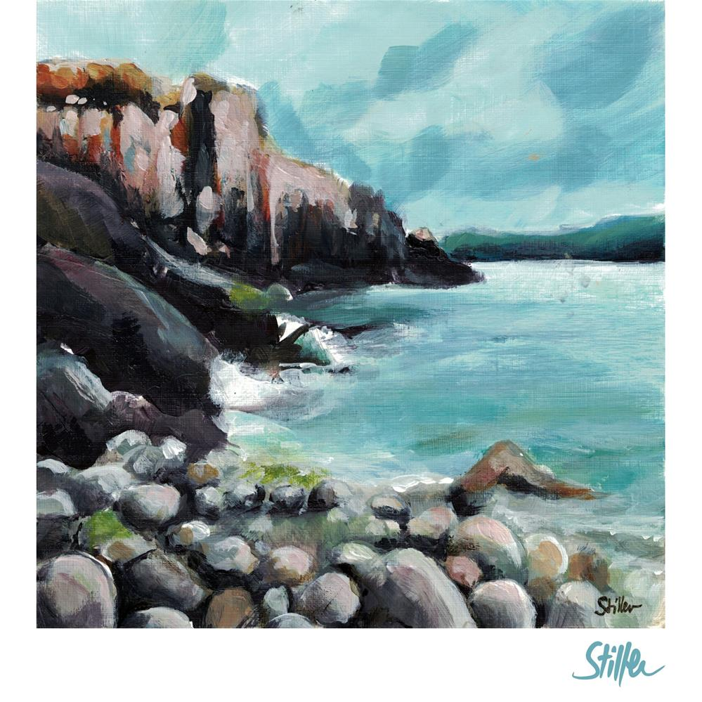 """3525 Coastal Section"" original fine art by Dietmar Stiller"
