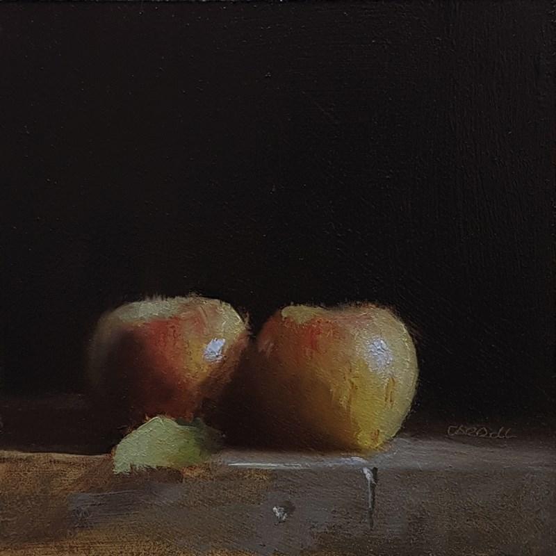"""""""Two Apples"""" original fine art by Neil Carroll"""