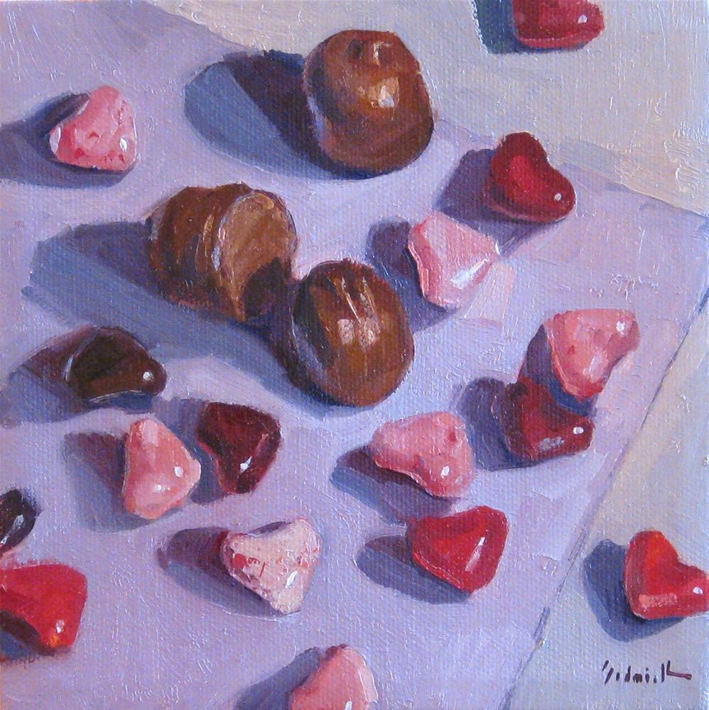 """Cherry Hearts"" original fine art by Sarah Sedwick"