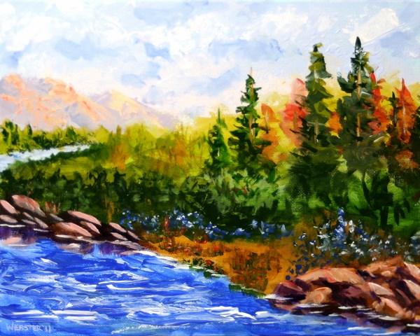 """Mark Webster - Impressionist Landscape - Abstract Acrylic Painting"" original fine art by Mark Webster"