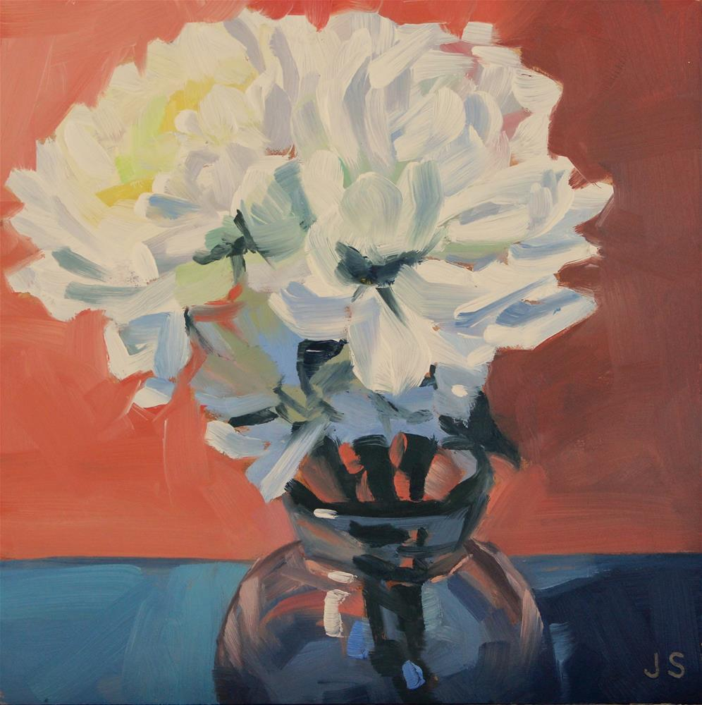 """Chrysanthemum Bouquet"" original fine art by Jamie Stevens"