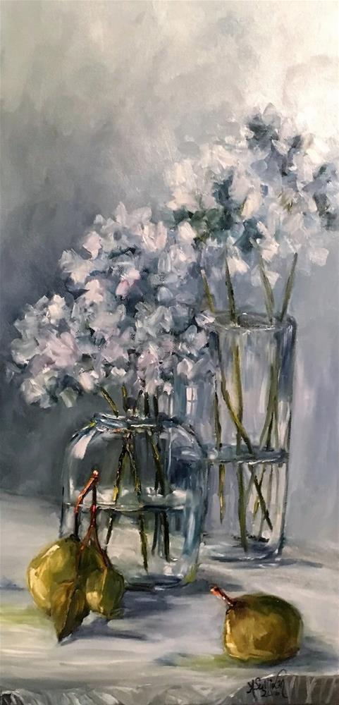 """Peared still life by Alabama Artist Angela Sullivan"" original fine art by Angela Sullivan"