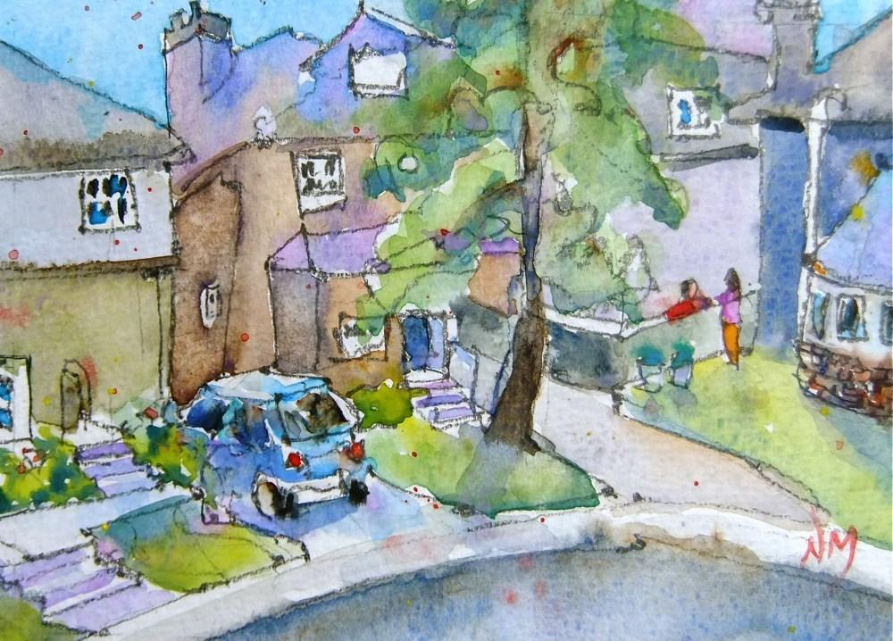 """hey neighbour"" original fine art by Nora MacPhail"
