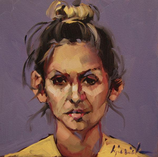 """100 Faces, No. 65"" original fine art by Karin Jurick"
