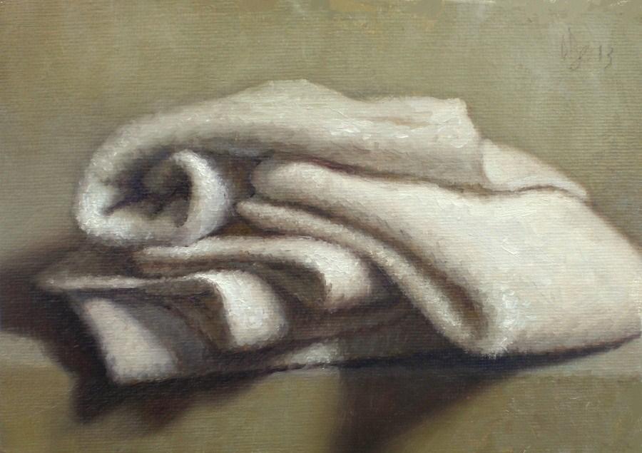 """""""Wash Cloths"""" original fine art by Debra Becks Cooper"""