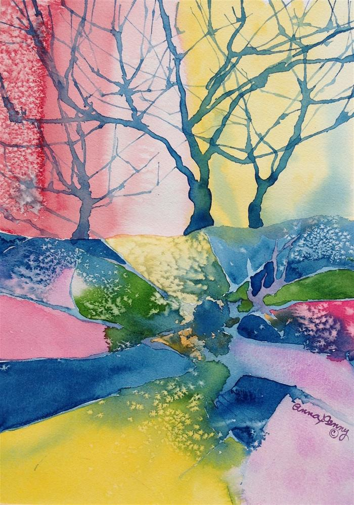 """""""Pink Trees"""" original fine art by Anna Penny"""
