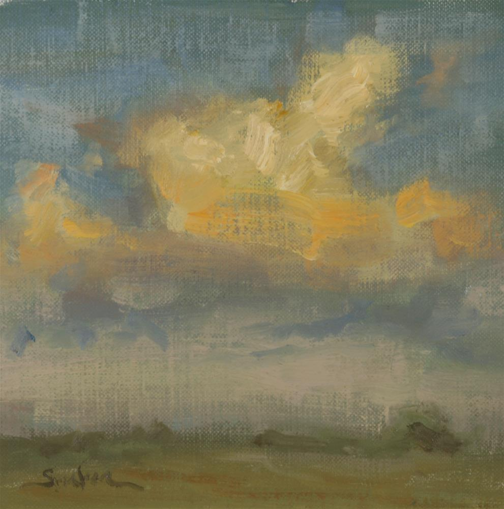 """""""Fall Sunset 04"""" original fine art by Scott Serafica"""