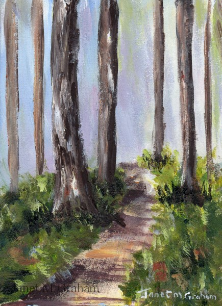 """Summer Path ACEO"" original fine art by Janet Graham"