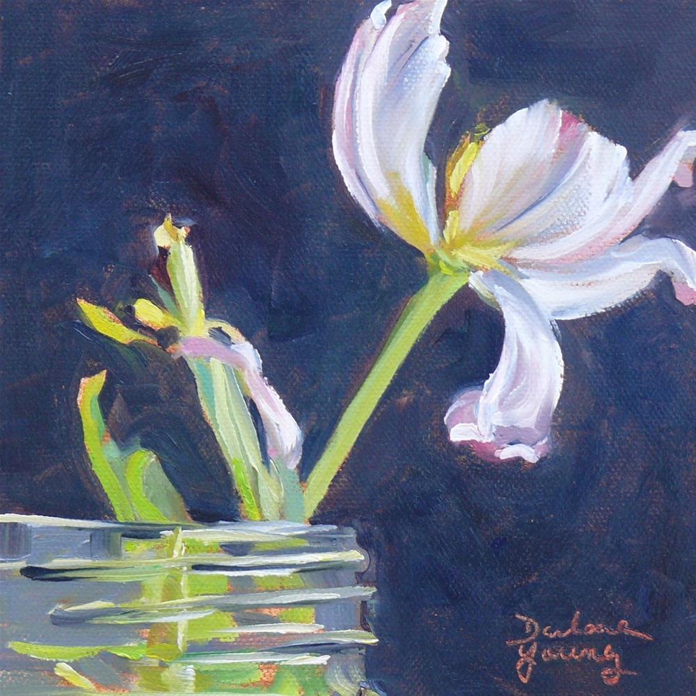 """604 Tulip's Last Day"" original fine art by Darlene Young"