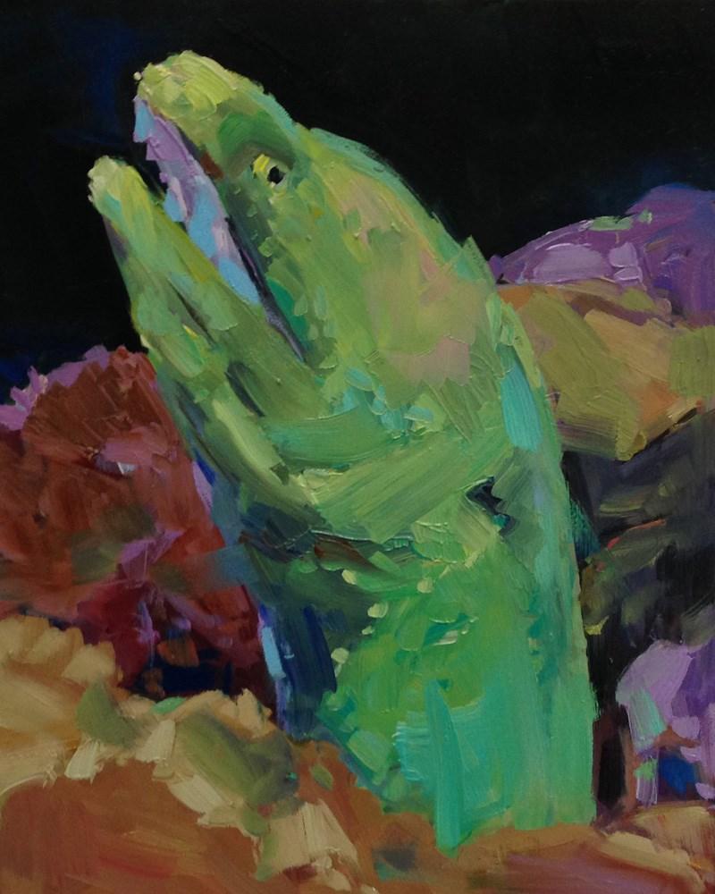 """""""That's A Moray"""" original fine art by Patti McNutt"""
