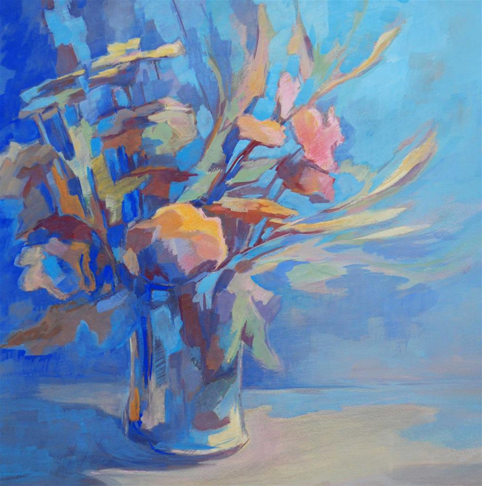"""Nighttime bouquet"" original fine art by Olga Touboltseva-Lefort"