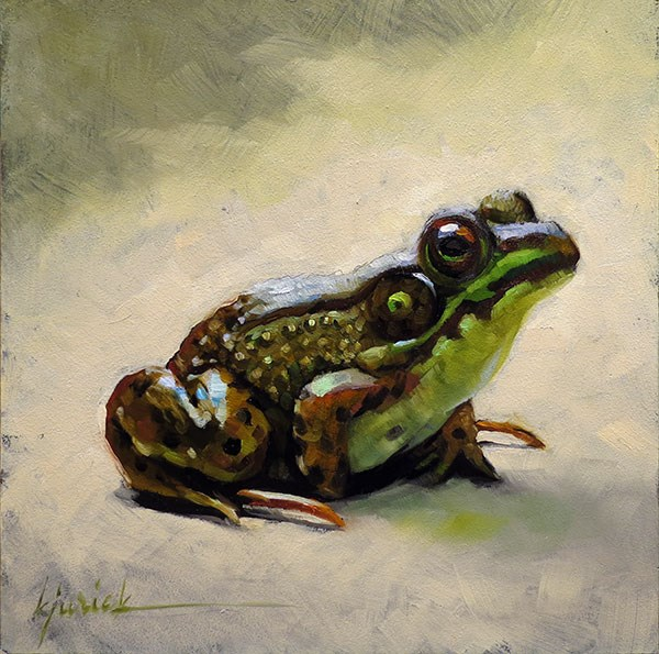 """Frogger"" original fine art by Karin Jurick"