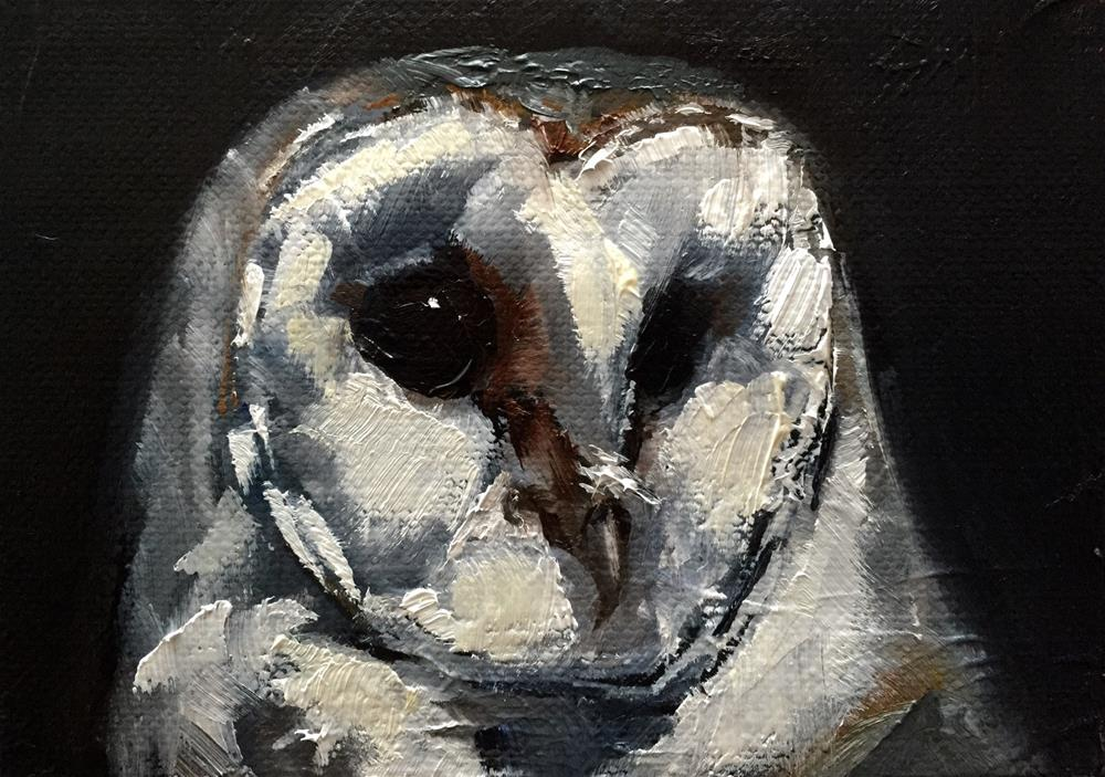 """Barn Owl II"" original fine art by Gary Bruton"
