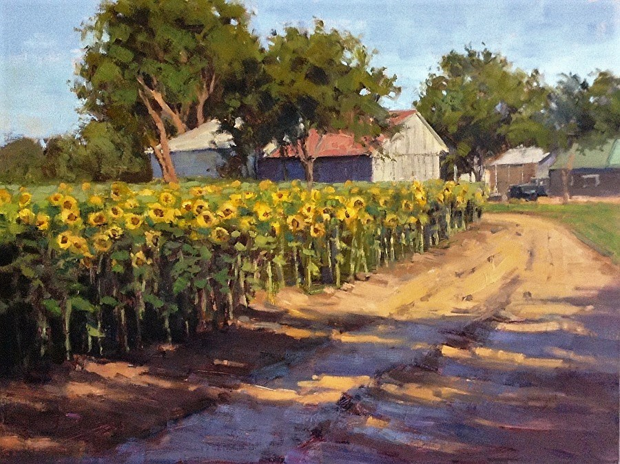 """The Sunflower Farm"" original fine art by Barbie Smith"
