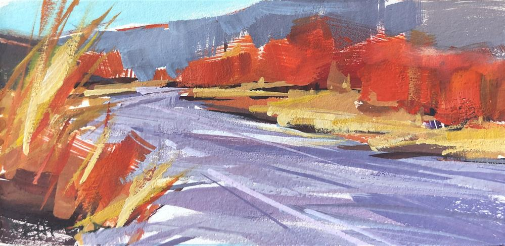 """East Fork of the Hood River"" original fine art by Cathleen Rehfeld"