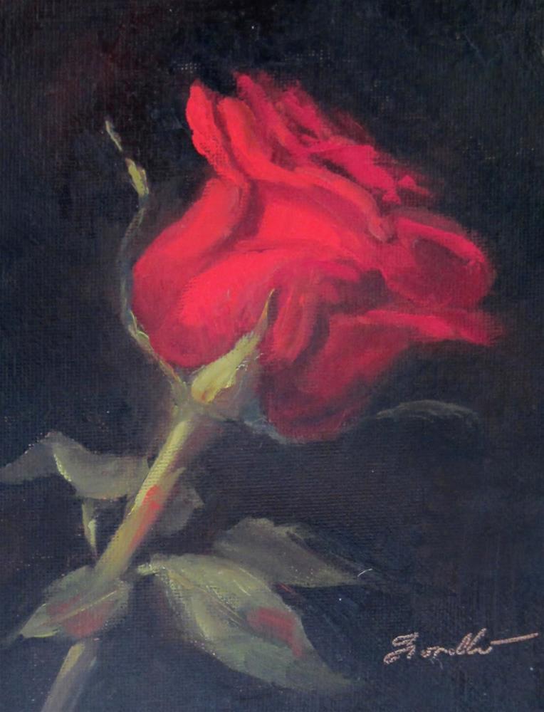 """""""Rose Study  #4"""" original fine art by Pat Fiorello"""