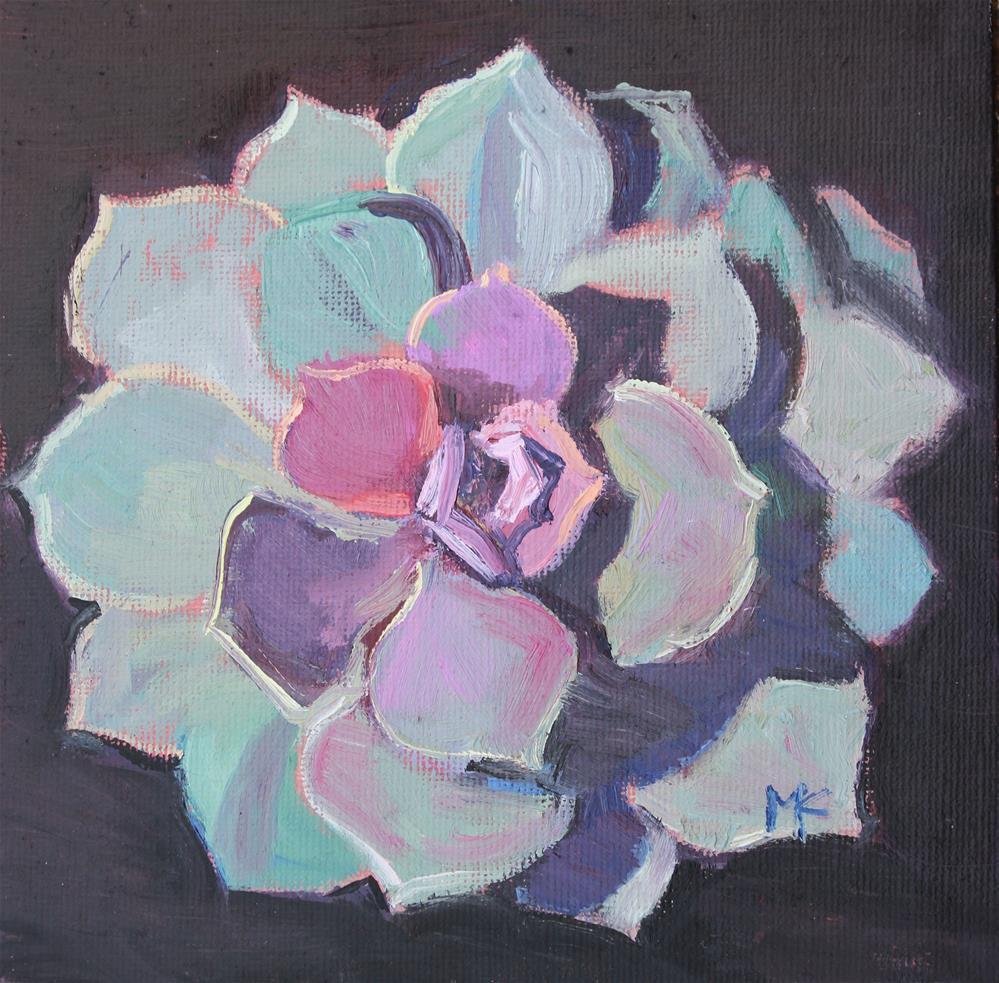 """""""Succulent- echeveria- Perle Von Nurnberg"""" original fine art by Susan McCullough"""