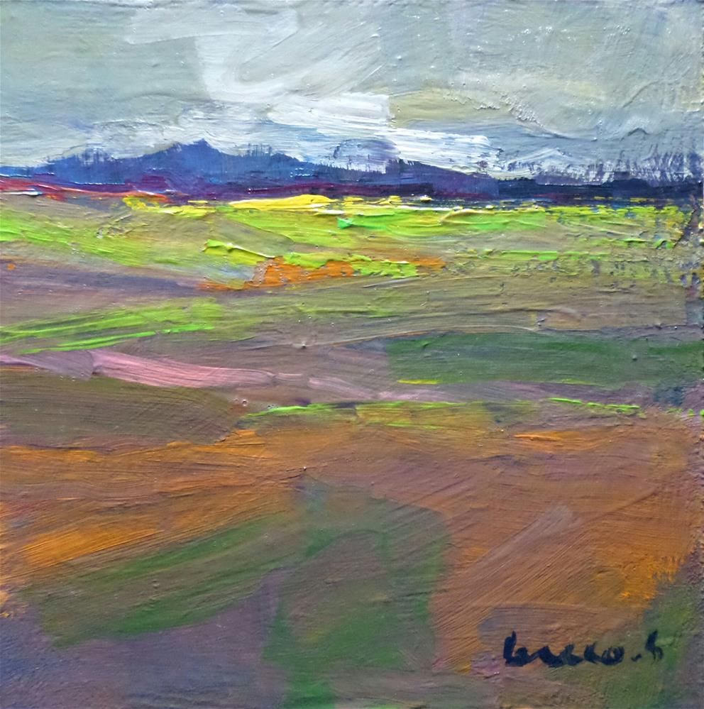 """Large spaces field"" original fine art by salvatore greco"