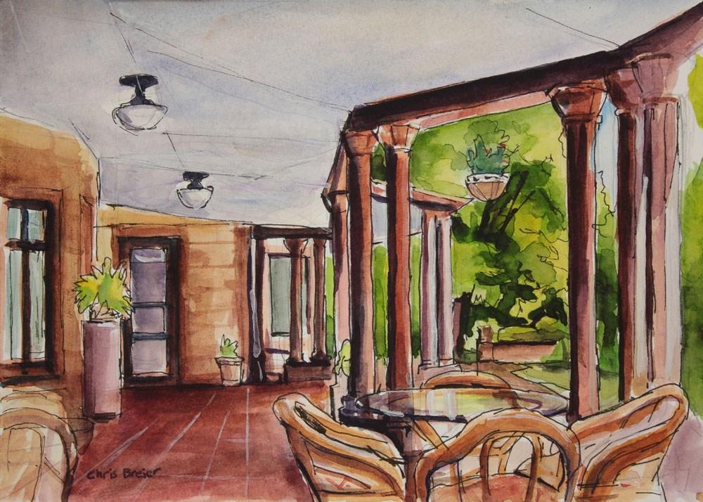 """""""Porch"""" original fine art by Chris Breier"""