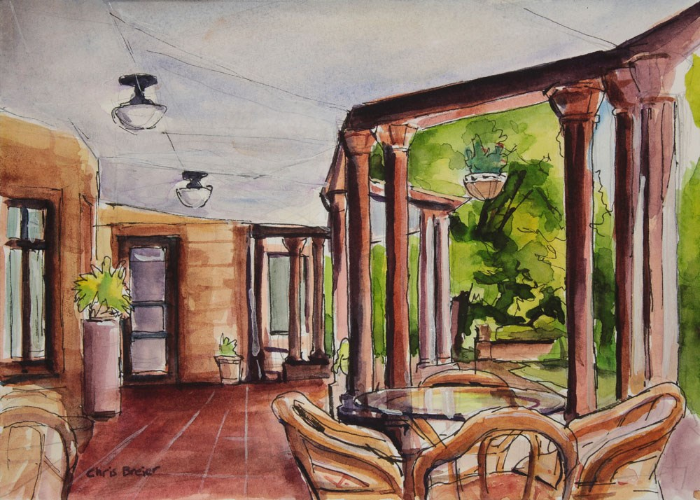 """Porch"" original fine art by Chris Breier"