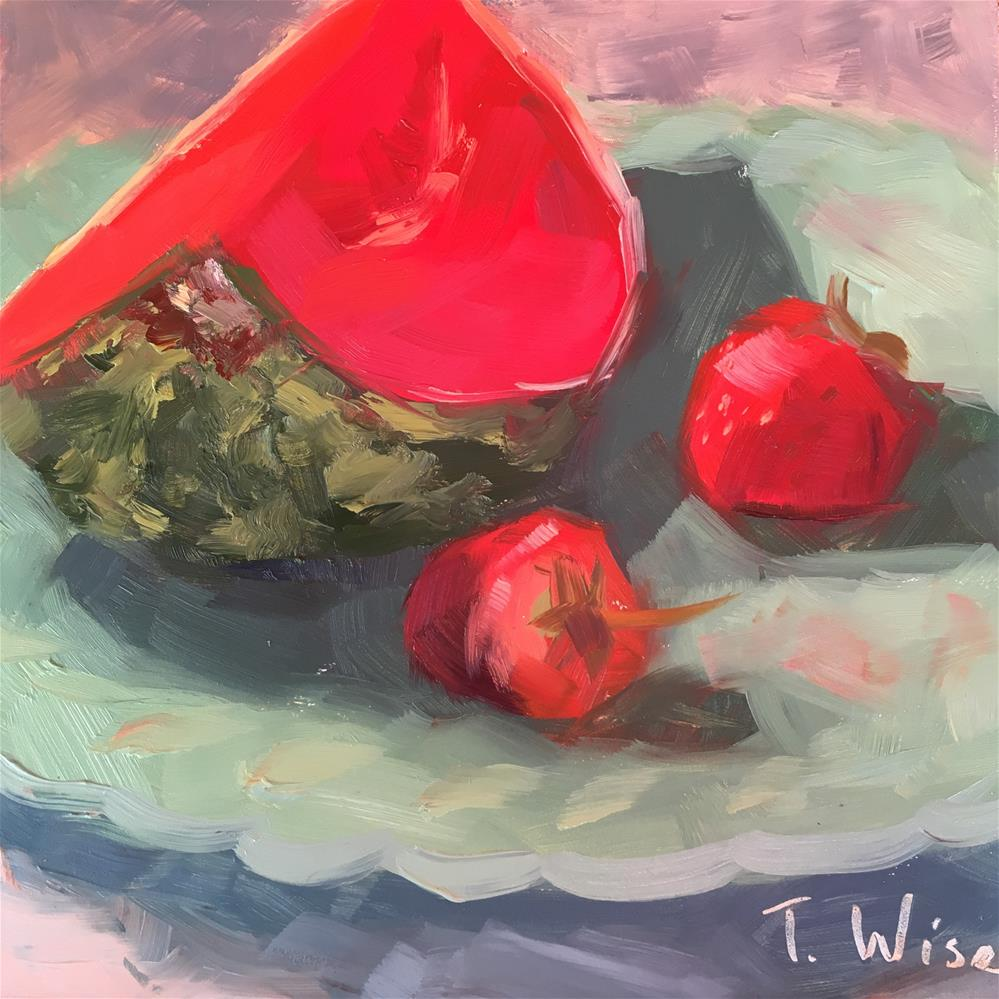 """""""Red Red Melon"""" original fine art by Tracy Wise"""