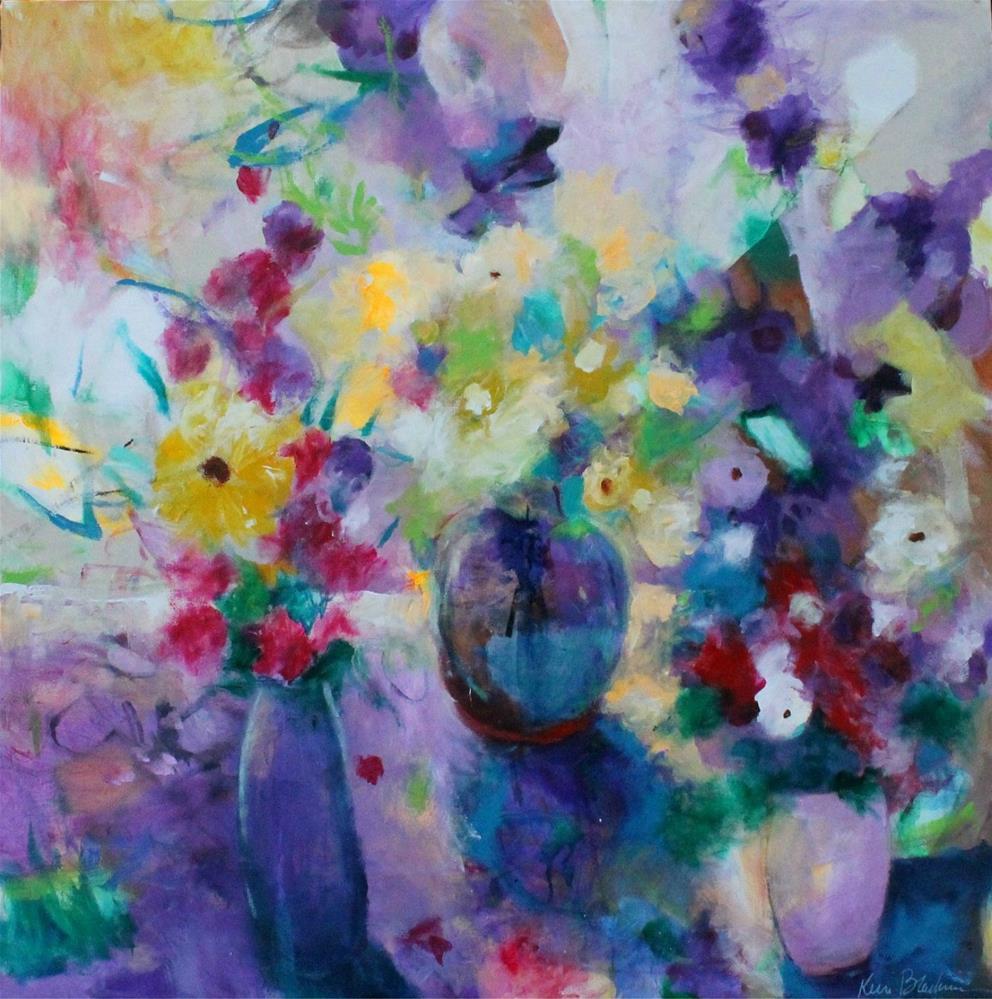 """Three Vases "" original fine art by Kerri Blackman"
