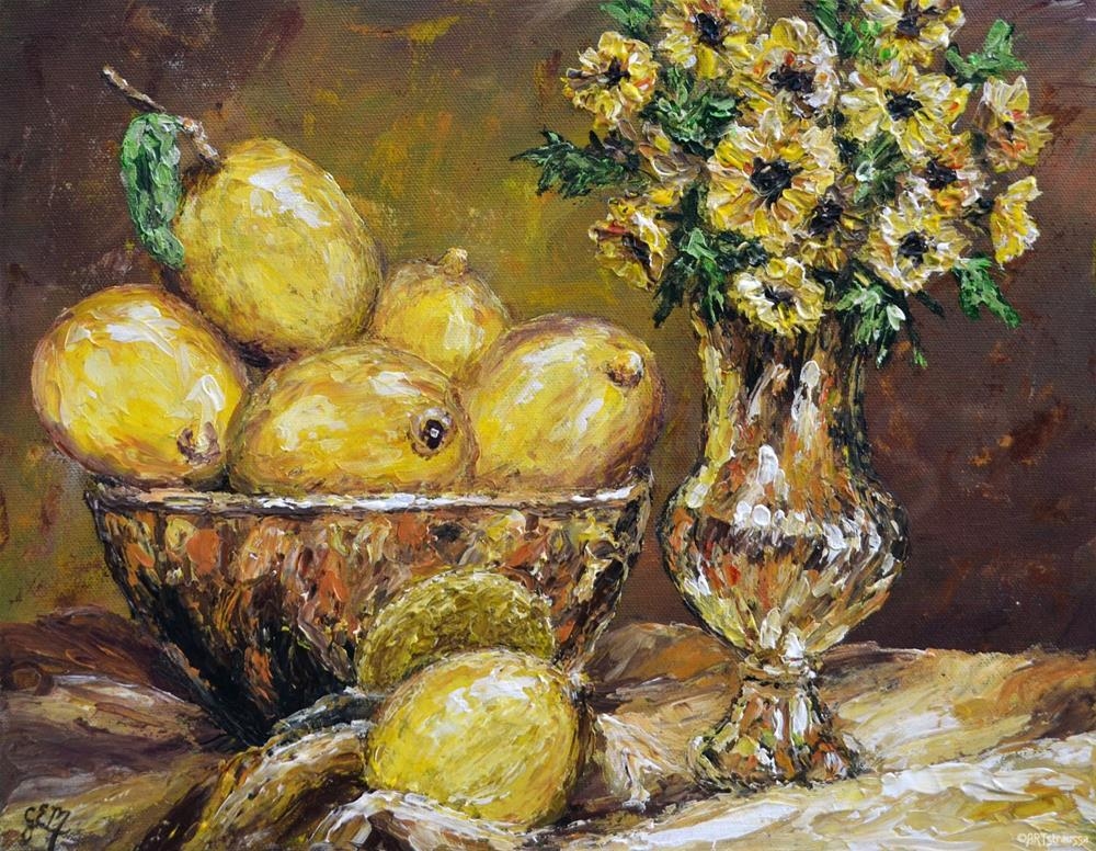 """Golden Beauties"" original fine art by Gloria Ester"
