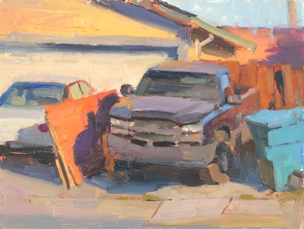 """Driveway #1"" original fine art by Kristian Matthews"