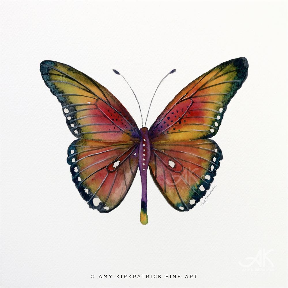"""""""#66 Spotted Wing Butterfly #0376"""" original fine art by Amy Kirkpatrick"""