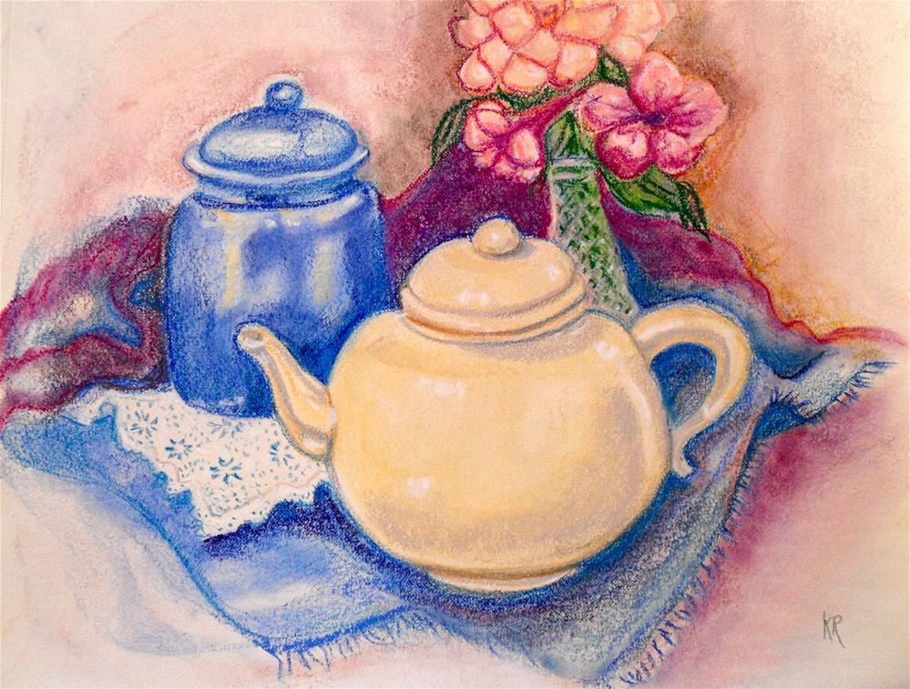 """Teapot Harmony"" original fine art by Karen Roncari"